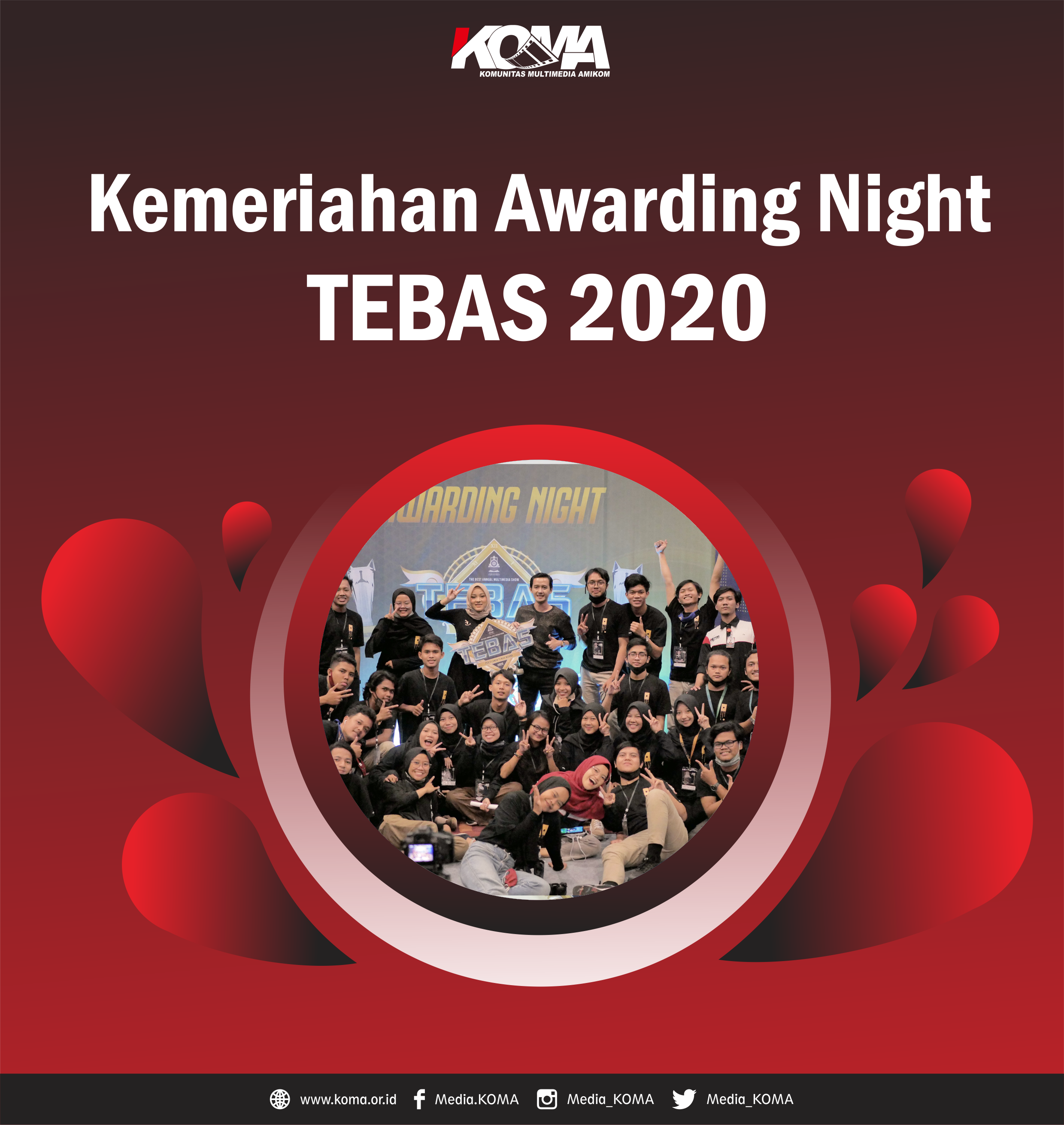 Kemeriahan Awarding Night TEBAS 2020