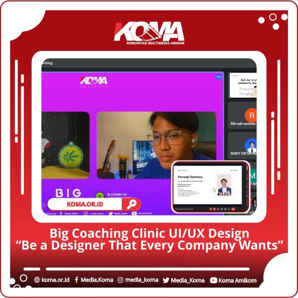 """Big Coaching Clinic UI/UX Design """" Be A Designer That Every Company Wants """""""